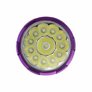 Image 4 - עמיד למים 12 x XM L2 20000 לום LED פנס צלילה מתחת למים מנורת לפיד 100m Scuba Diver Lanterna + 3*18650 Batery + מטען