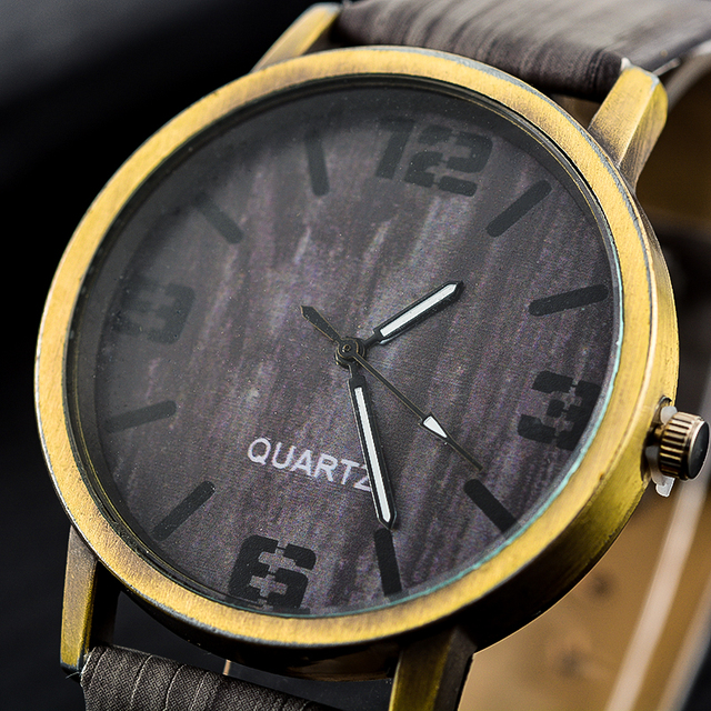 Wood Stripe Pattern Wrist Watch 2