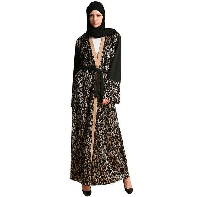 Babalet Elegante Modesto Islámico Musulmán Dubai Jilbab Abaya Largo ...