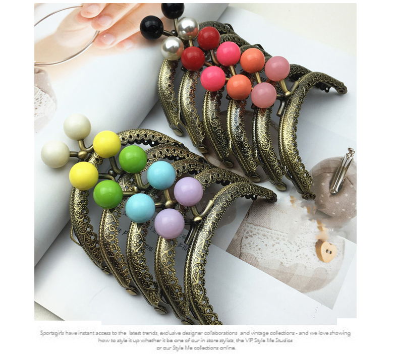 Colorful Candy Color Buckle Small Women Purse Frame Metal Clasp 11 Colors 8.5cm DIY Bag Material Accessories 5pcs/lot