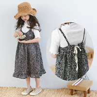 Children clothing clothes set girls summer 2pcs cloth set t shirt + dress set for girls summer fashion design