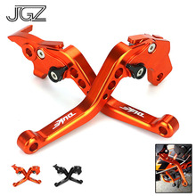 Buy For KTM Duke 250 390 RC250 2013 - 2015 2016 RC200 2014 2015 Orange CNC Aluminum Motorcycle Short Adjustable Brakes Clutch Levers directly from merchant!