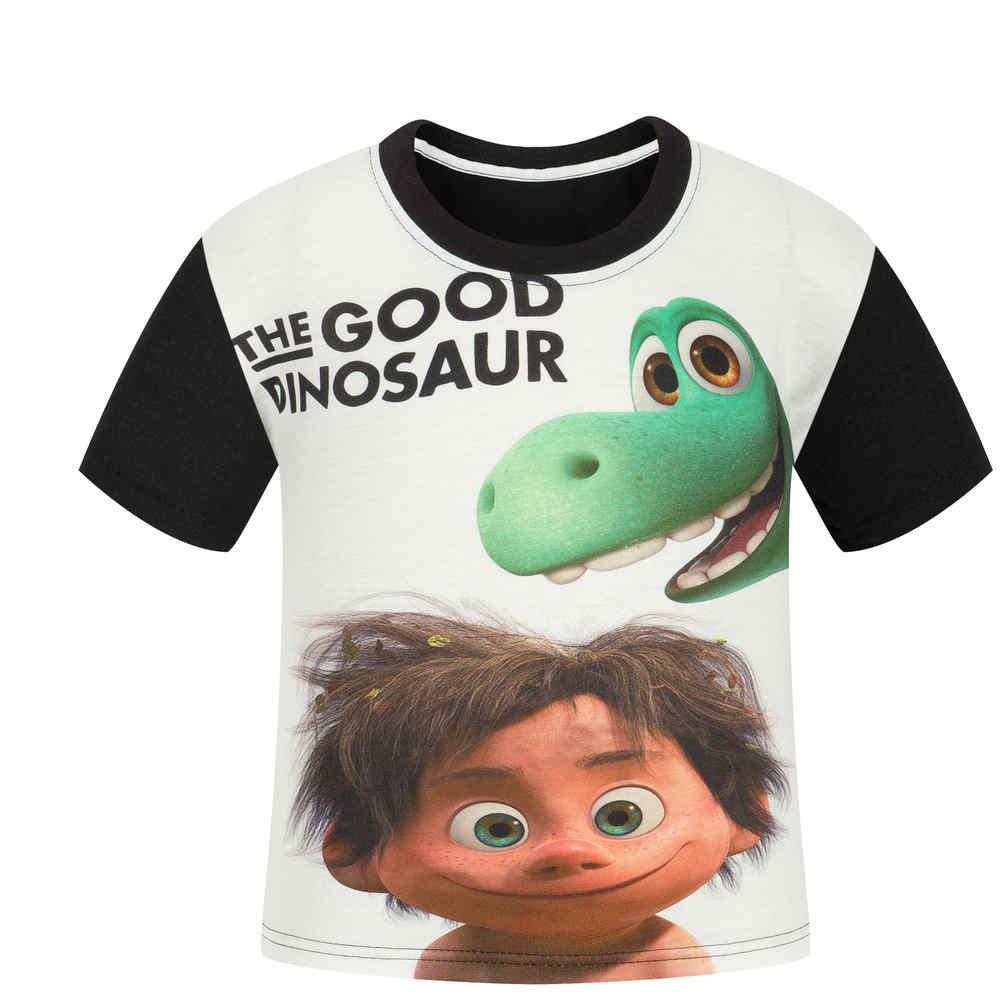 2017 Boy The Good Dinosaur T Shirt Children Summer Cartoon Printed Clothes Girl Cotton T-shirt Baby tshirt summer Tee kids Tops