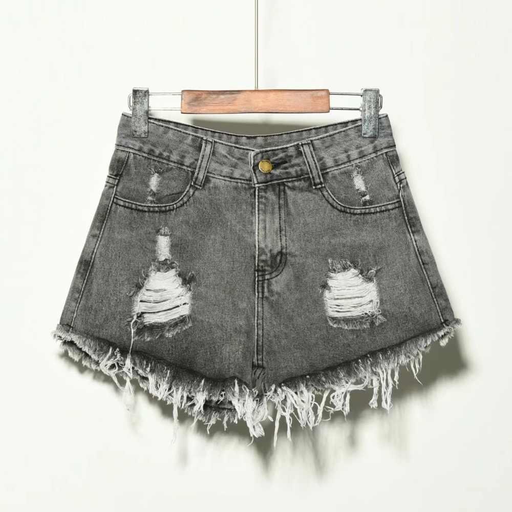 2019 летние джинсовые женские шорты, джинсы для женщин, Новое поступление, повседневные винтажные шорты с карманами размера плюс, женские шорты с дырками