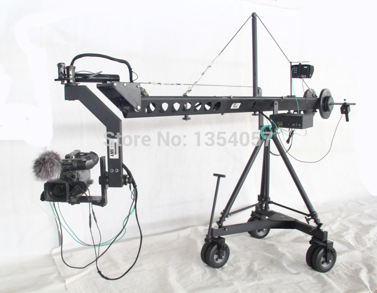 Vysílací jeřáb dv jimmy jib jeřáb na prodej s motorizovanou nizozemskou hlavou nakládací 25kg Professional Jimmy Crane Jib