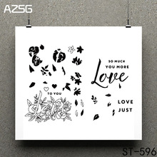 AZSG Symbol of love Clear Stamps/seal for DIY Scrapbooking/Card Making/Photo Album Decoration Supplies