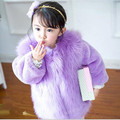 Fashion Kids Clothes Winter Fur Coat For Girls 80-150CM Baby Clothes Elegant Girls Outerwear Luxury Faux Fur Clothing AF-1670