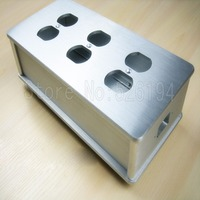 Uma peça de alumínio prata eua ac power distribuidor 6 tomada caixa de alimentação chassis caso