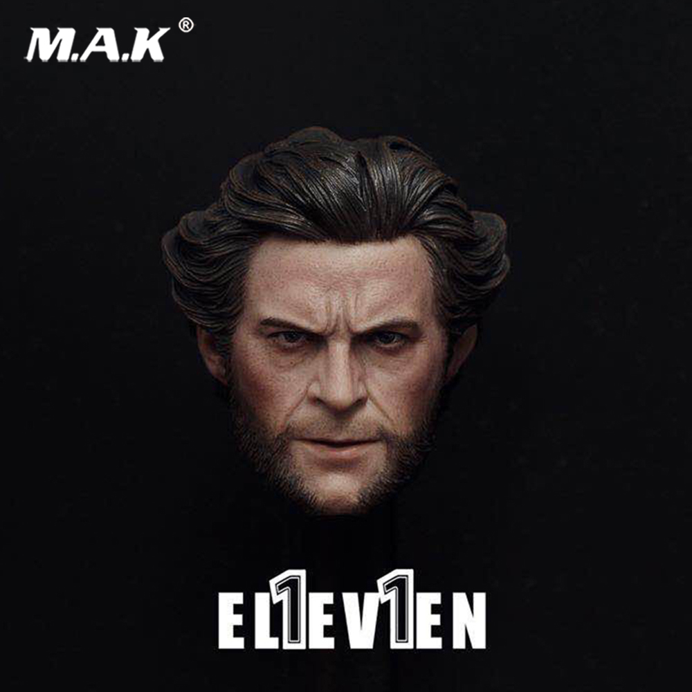 Action Figure head 1/6 Scale Uncle Hugh Jackman Wolverine Head Sculpt 1:6 Head Carving Model Collectible Doll Toys Accessories