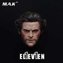 Action Figure head 1/6 Scale Uncle Hugh Jackman Wolverine Head Sculpt 1:6 Head Carving Model Collectible Doll Toys Accessories marvel legends custom 6 action figure old logan hugh jackman x men wolverine 1 12 head