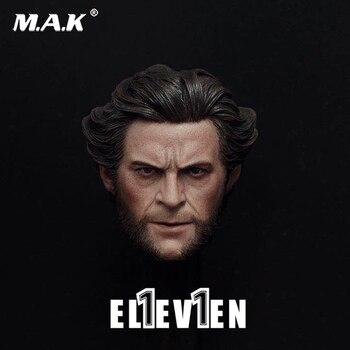 Action Figure head 1/6 Scale Uncle Hugh Jackman Wolverine Head Sculpt 1:6 Head Carving Model Collectible Doll Toys Accessories