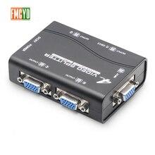 купить!  Kvm Splitter VGA 4 порта USB 2.0 KVM Splitter 1440P VGA SVGA Переключатель Splitter Box для клавиату Лучший!