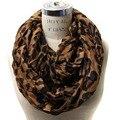 1 UNIDS Nueva Llegada 2014 Leopard Impreso Infinito Bufanda Círculo Loop Infinito Bufandas Anillo Envío Gratis Abrigo Del Mantón de Las Mujeres de Moda