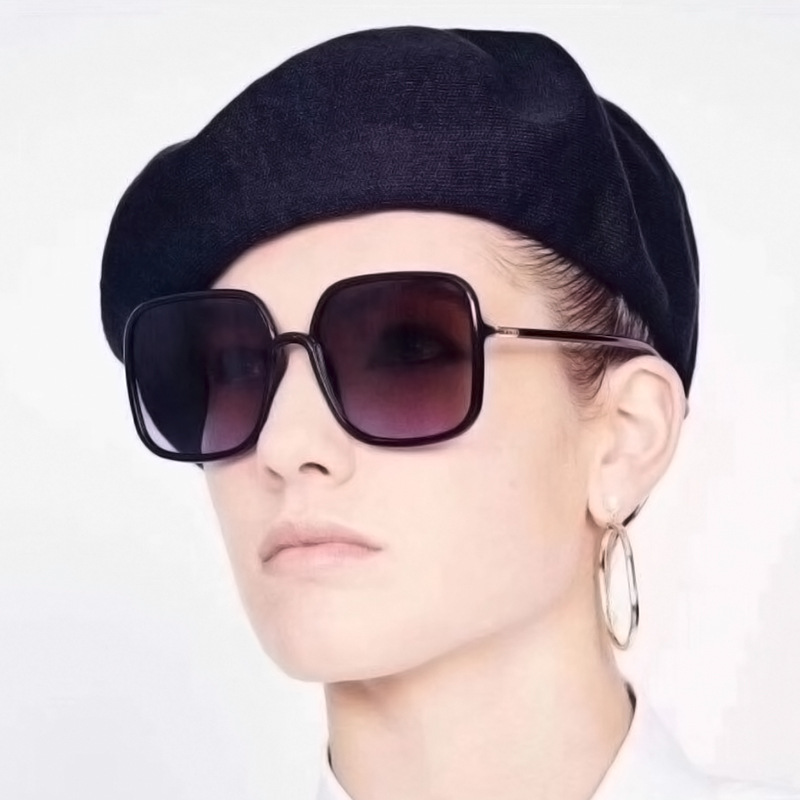 FEISHINI Stars Shine Plastic Frame Festival Celebrity Square Sunglasses Ladies  UV Protector Fashion Oversized Women