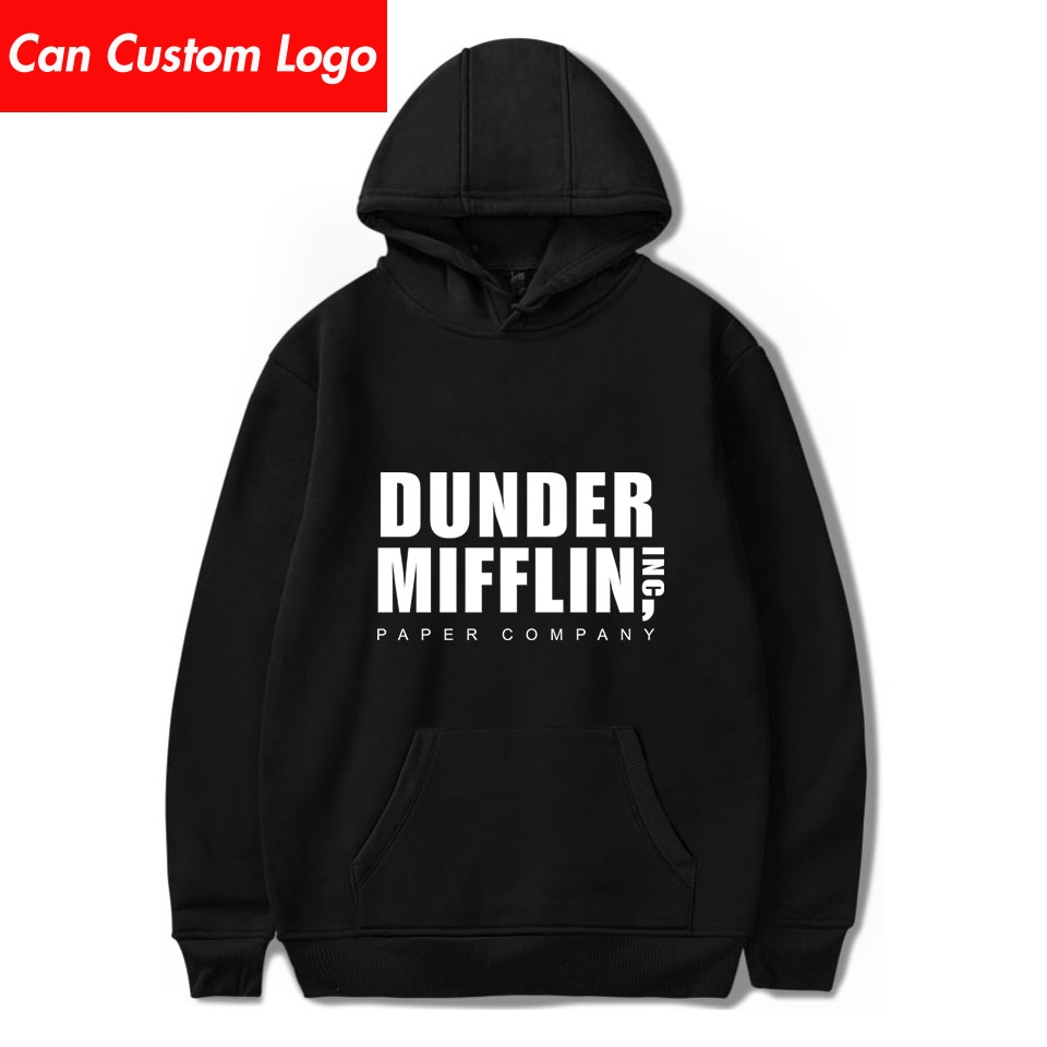 New Arrival Dunder Mifflin Hoodies Men Casual Pullover Streetwear Sweatshirt Sudadera Hombre Male Dunder Mifflin Hoodie Men Tops