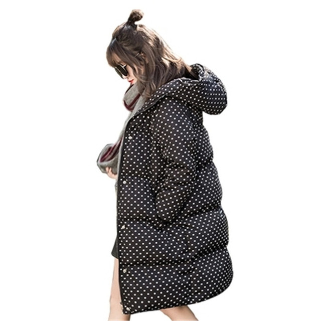 2016 New Winter Women Coat Warm Hooded Down Cotton Jacket Medium Long Thick Parkas Female Slim Coat Fashion Warm Jacket SK22