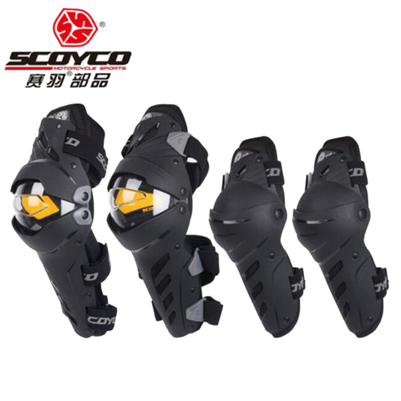 2018 New SCOYCO motorcycle gear Kneecap kneepad locomotive anti falling protector knee elbow riding equipment CE certification ...