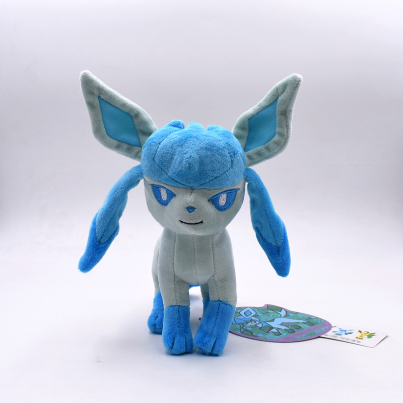 17cm Glacia Kawaii Eevee Anime Pet Soft Plush Toys Stuffed Animal Doll Standing Glaceon Children Gift Free Shipping