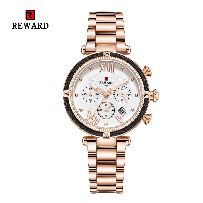 Chronograph Rose Gold Women Watch Sport Quartz Watch Ladies Top Brand Luxury Female Wrist Watch Business Clock Relogio Feminin(China)
