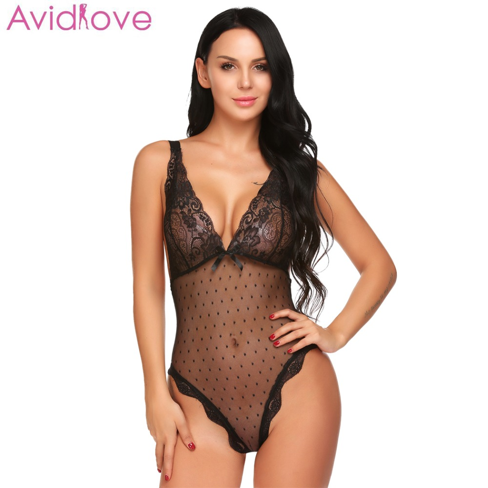 Avidlove Sexy Women Lingerie Cotton Sexy Clothes With G-string Fitness Babydoll Nightwear Sexy Underwear Lace Sexy Bodysuit