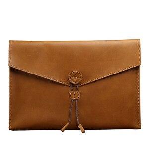 Папка из натуральной кожи А4, Сумка для документов, деловая бумажная сумка А4, органайзер для документов, офисные и школьные принадлежности