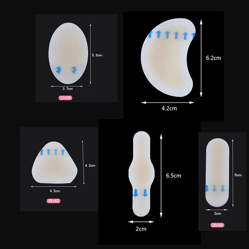 Image 5 - 10PCS Gel Shoes Stickers Soft Hydrocolloid Pads Relief Pain Blisters Bunions Corns Calluses Friction Pressure Spots Heel Pain-in Foot Care Tool from Beauty & Health