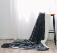 Winter Warm Weighted Solid Fur Blanket For Adult Soft Plush Fleece Blanket Version Thicker Blankets On