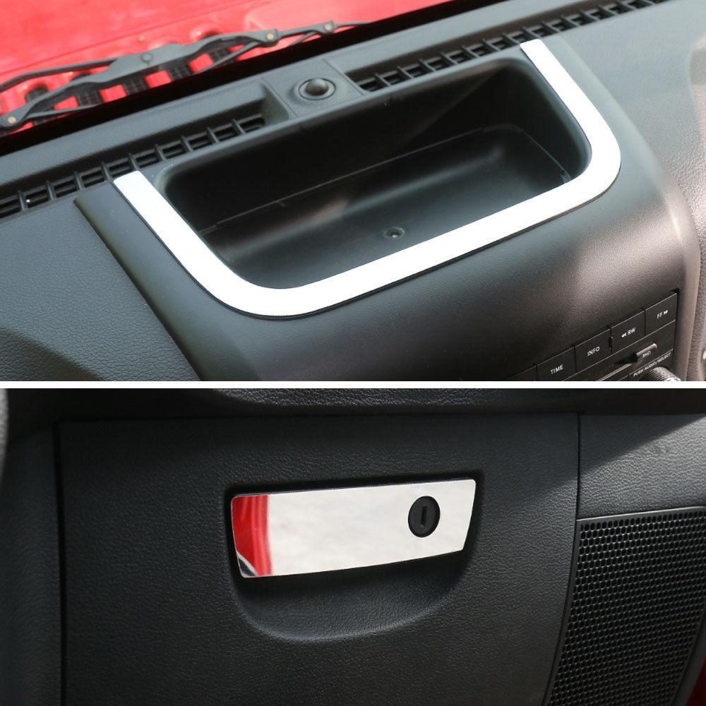 2019 Fashion 2pcs Stainless Car Interior U-type Strip + Storage Box Handle Cover Trim Frame Decoration For Jeep Wrangler 2011-2016 Attractive Fashion
