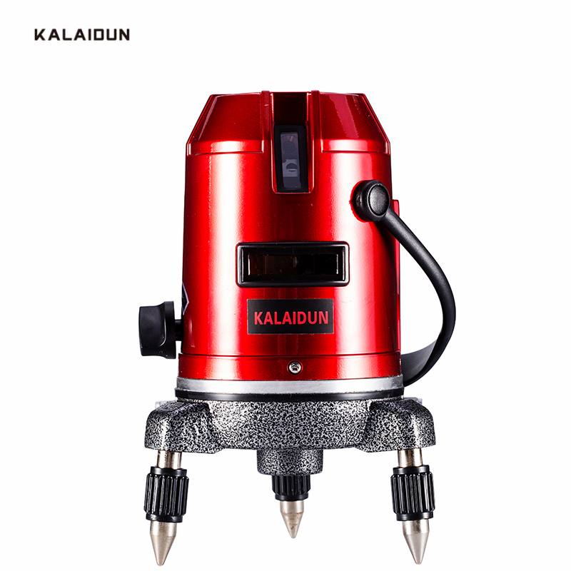 KALAIDUN Laser Level 5 Lines 6 Points 360 degrees rotary 635nm outdoor mode/Indoor mode slash available auto line laser tools quality mtian level laser 5 lines 6 points instrument levels 360 self rotary 635nm corss line lazer level tools fast delivery