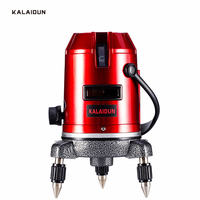 KALAIDUN Laser Level 5 Lines 6 Points 360 degrees rotary 635nm outdoor mode/Indoor mode slash available auto line laser tools