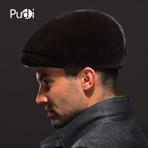 HM038 Real genuine mink hat winter Russian men's warm caps whole piece mink fur hats hm039 real genuine mink hat winter russian men s warm caps whole piece mink fur hats