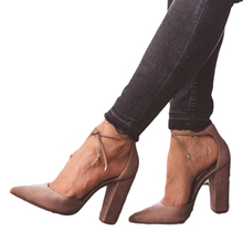 Women's Pointed Strappy Pumps with tie