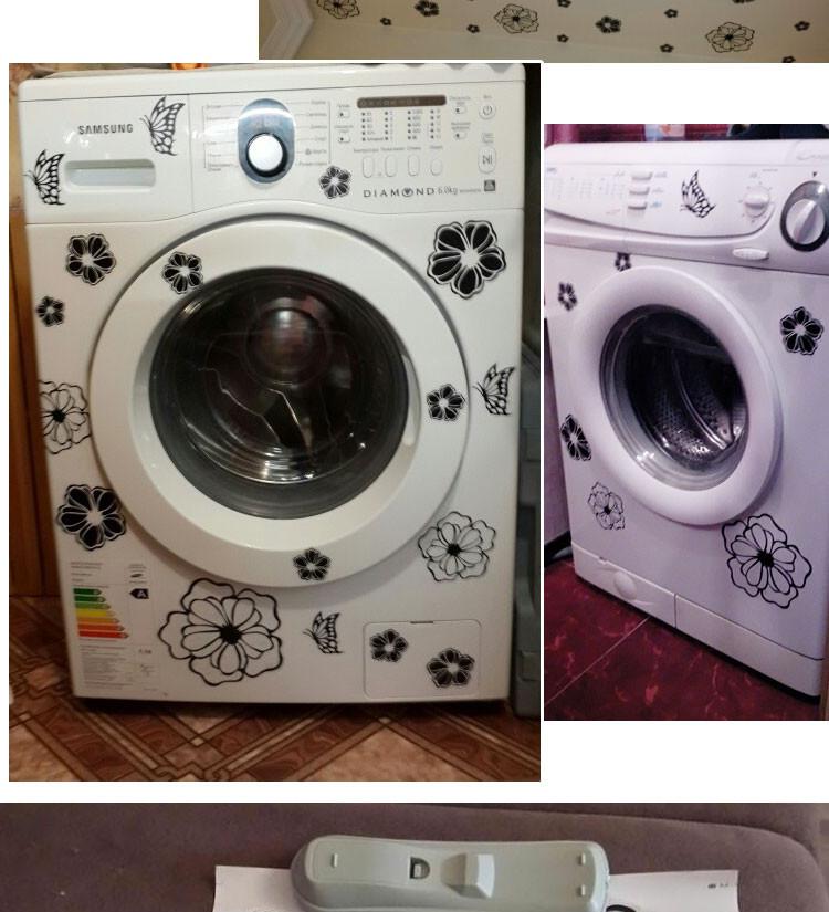 HTB1lhKXKFXXXXXrXVXXq6xXFXXXs - High Quality Household Washing Machine Refrigerator Stickers Flowers Butterflies Wall Stickers Home Decor For Kitchen Bathroom