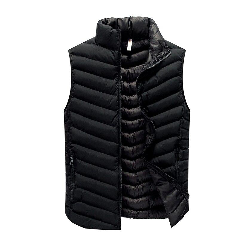 2017 newest <font><b>men</b></font> autumn waistcoat solid color sleeveless winter jacket 3 colors M-3XL AYG353