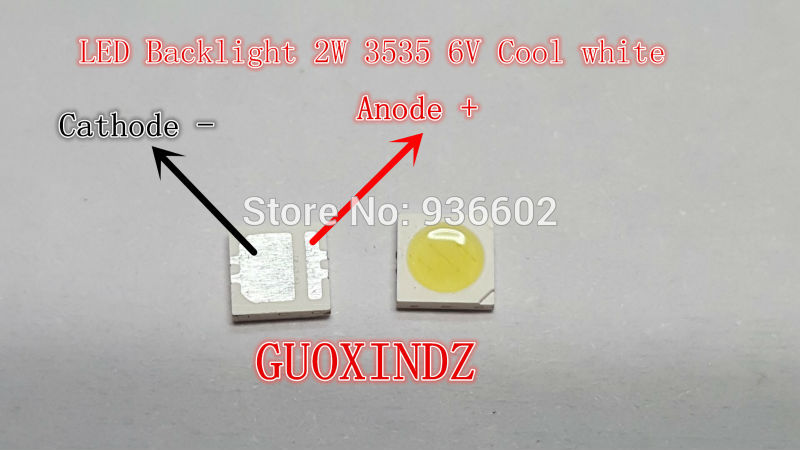 SEOUL  High Power LED    LED Backlight  2W 3535  6V  Cool White  135LM   TV Application SBWVL2S0E