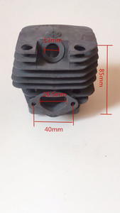 Image 2 - 58cc Chainsaw cylinder and piston full set 5800 Chain saw cylinder kit cylinder dia 45.2mm