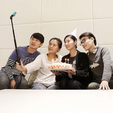 New Selfi Bluetooth Wireless Remote Control Monopod Selfie Stick for Xiaomi Yi Xiaoyi Camera Monopod Triopd # F3092