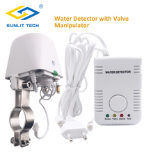 러시아어 홈 스마트 누수 감지기 알람 시스템 자동으로 차단 DN15 DN20 매니lator 레이터 밸브 물 홍수 센서