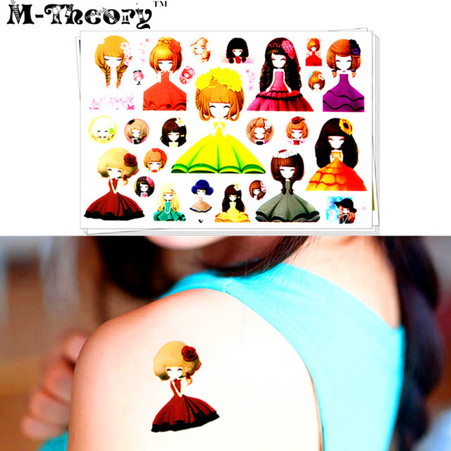 M-theory Princess Makeup Temporary 3d Fake Tattoos Sticker 3d Henna Tatto Tatouage Body Art 3d Tatuagem Flash Tatoos Sticker