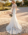 Hollywood-Inspired Designer Mermaid Wedding Dresses 2016 Clear Beading Rich Crepe Skirt Long Sleeve Vestidos De Novias Plus Size