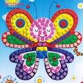 12 colores 3d mosaico, arte de diy espuma eva niños de dibujos animados rompecabezas de cristal 3d pegatina creativo juguetes educativos para niños