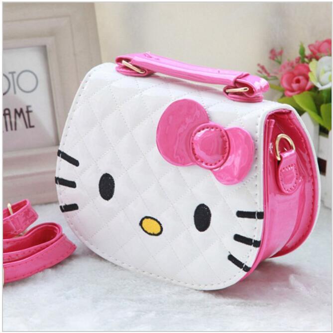 2017 New Designers Mini Cute Bag Children Hello Kitty Bowknot Handbag Kids Tote S Shoulder
