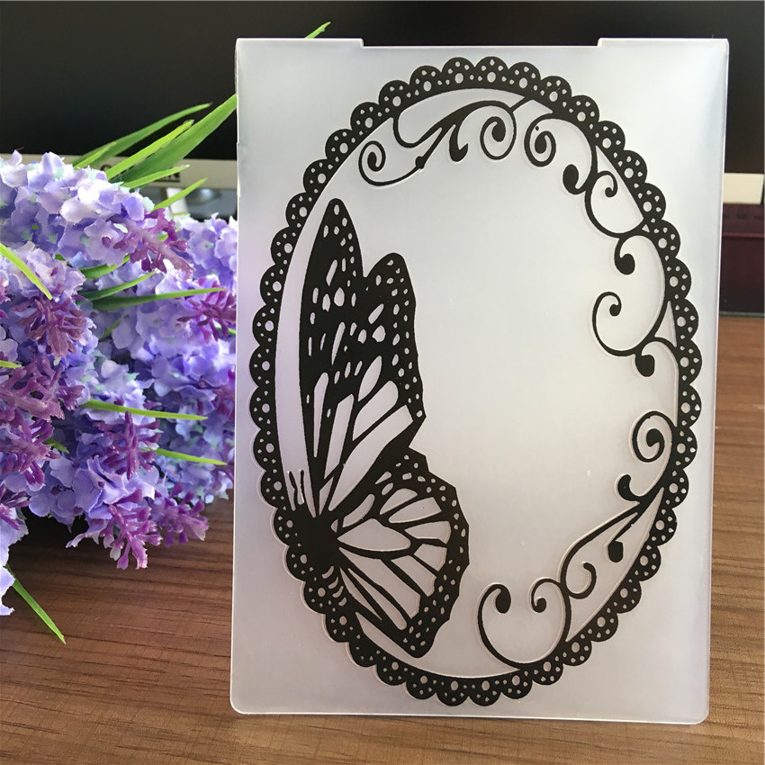 aliexpress  buy oval lace frame butterfly plastic