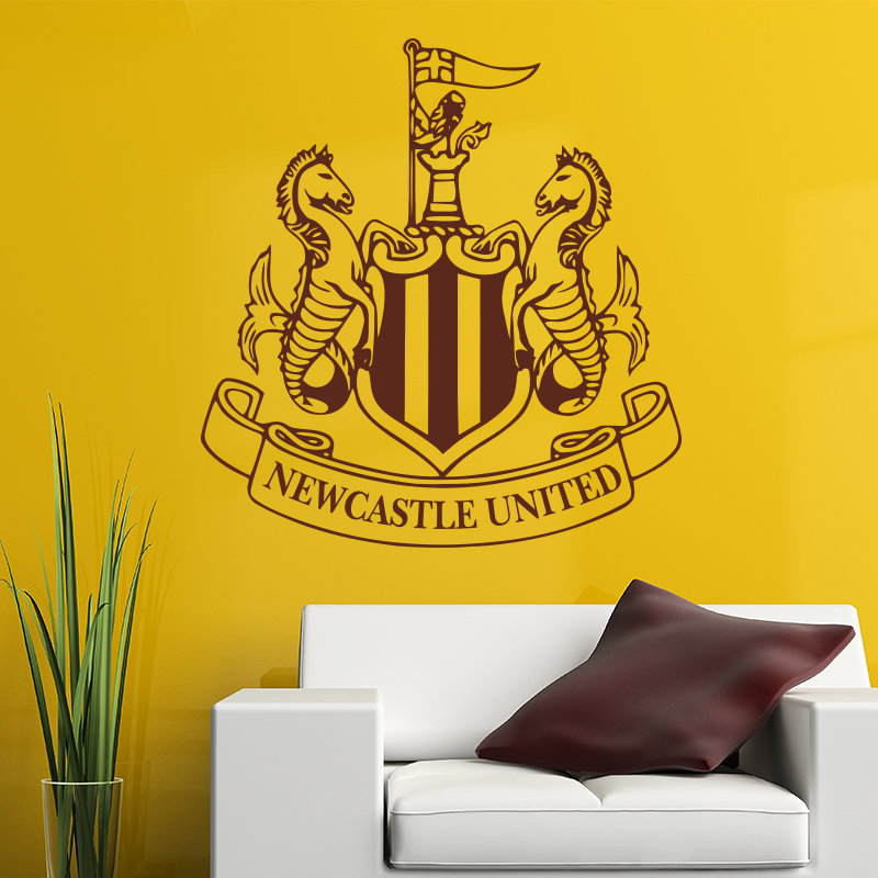 New castle united badge wall sticker vinyl football marks art home decor wall decal diy soccer club signs in bedroom in wall stickers from home garden on