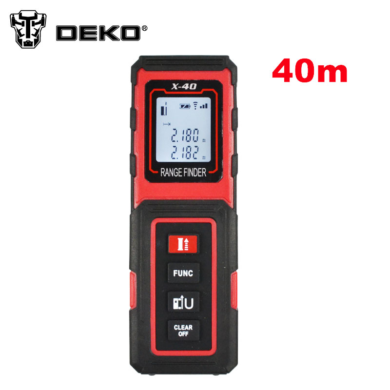 DEKO X 40 40m Mini Digital Laser distance meter Rangefinder Range finder Tape measure Area volume