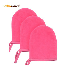 Sinland 3-pack Microfiber Face Cleaning Glove Makeup Remover Cloth Pads Reusable