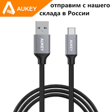2016 AUKEY 2m USB 3.0 to Type-C Cable for Xiaomi5 Huawei P9 Lite P9 Plus Honor 8 Samsung Galaxy Note 7 LG G5 Typc-C Type C