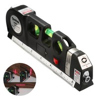 Accurate Multipurpose Laser Level Lever Cross Projects Horizontal Vertical Laser Light Beam Measure Tape