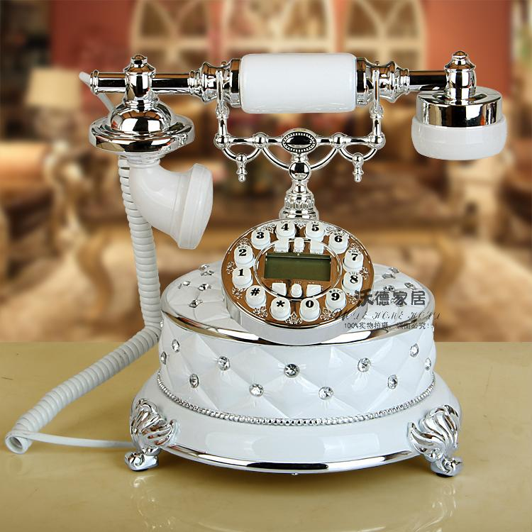Antique telephone landline telephone retro European fashion home office telephone caller ID corded phone ringing tones
