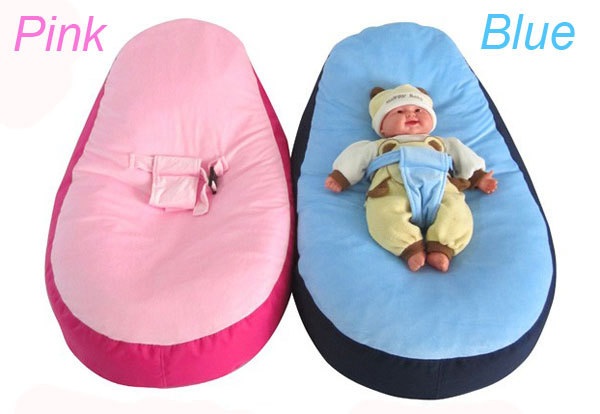 Blue Pink Bloop Newborn Babies Beanbag Chair Kids Toddler Baby Bed Crib  Chair Sofa Bed Furniture Portable Crib For Babies In Baby Cribs From Mother  U0026 Kids ...